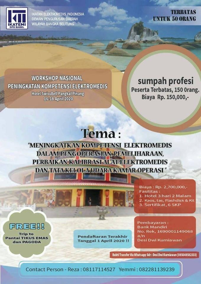 "Workshop Nasional ""Peningkatan Kompetensi Elektromedis"""